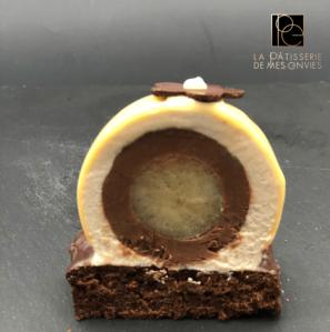 entremet Poire - chocolat - marron 2